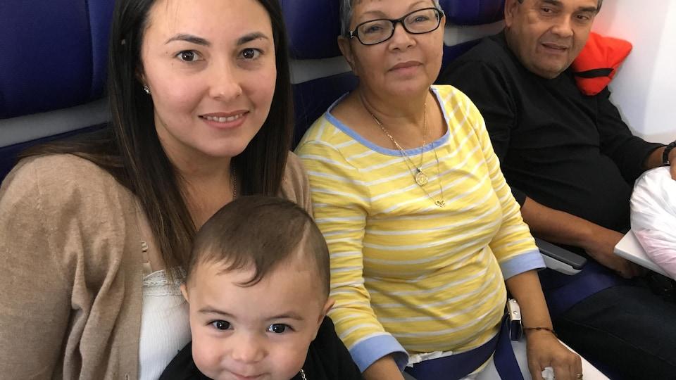 Marangely Rodriguez Almodovar, 30 ans, Maria Almodovar Velazquez, 67 ans, Mariano Almodovar Velazquez, 58 ans, Jansen 15 mois