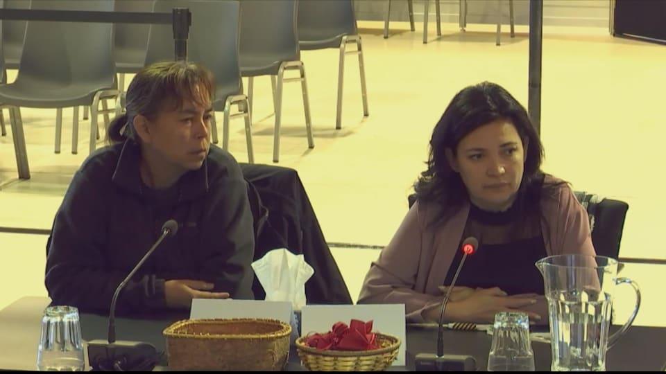 Fanny Bacon témoigne à la Commission Viens de passage à Maliotenam