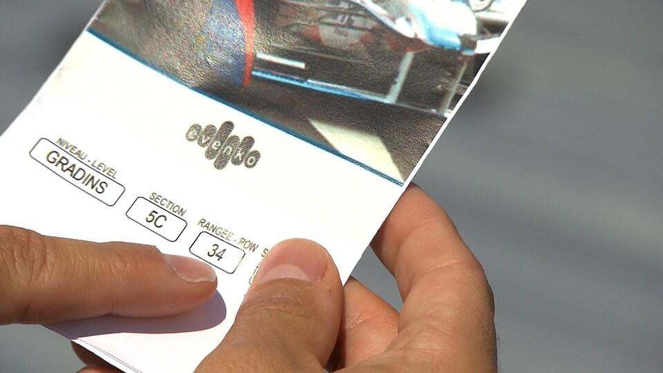 Un billet vendu par evenko.
