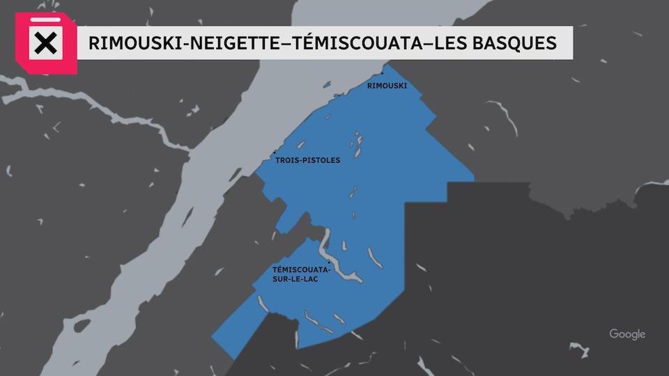 Une carte montre les limites de la circonscription.