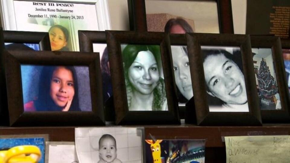 Des portraits de femmes et filles autochtones disparues et assassinées