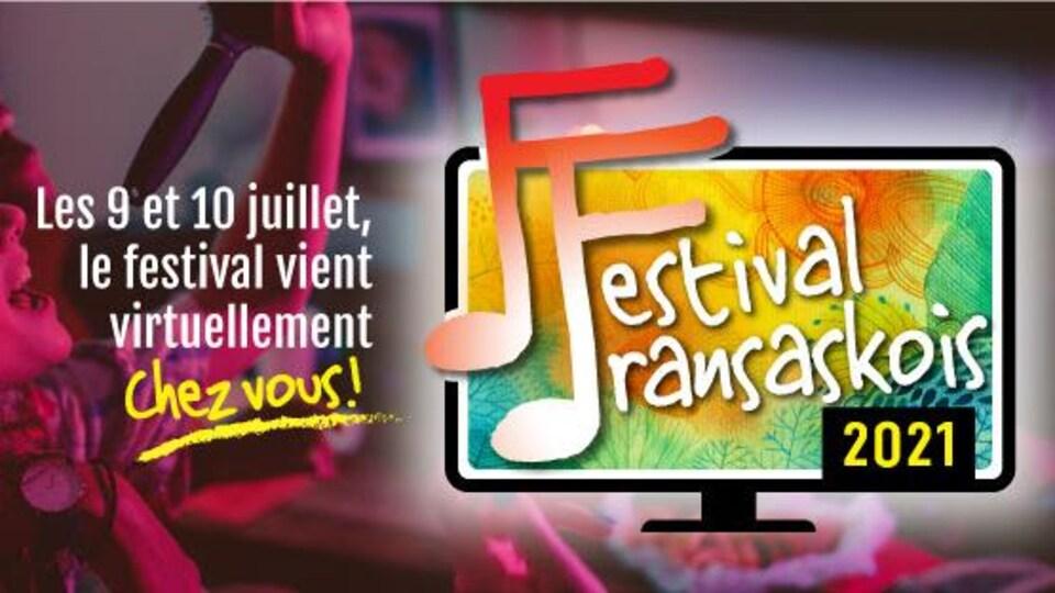 Image du Festival fransaskois qui indique que le festival se tiendra de manière virtuelle.