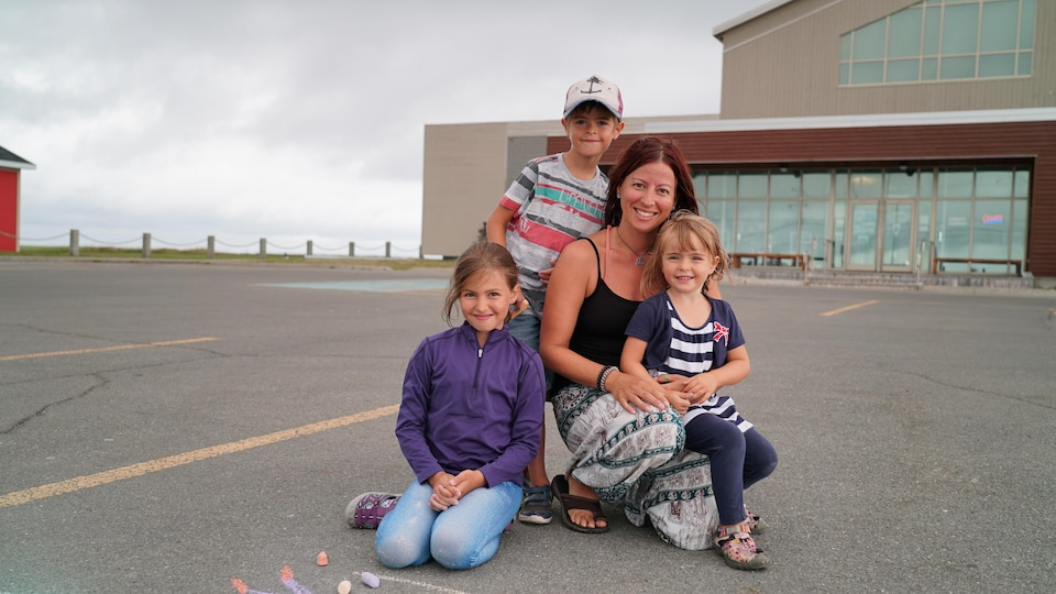 Isabelle Gasse et ses enfants