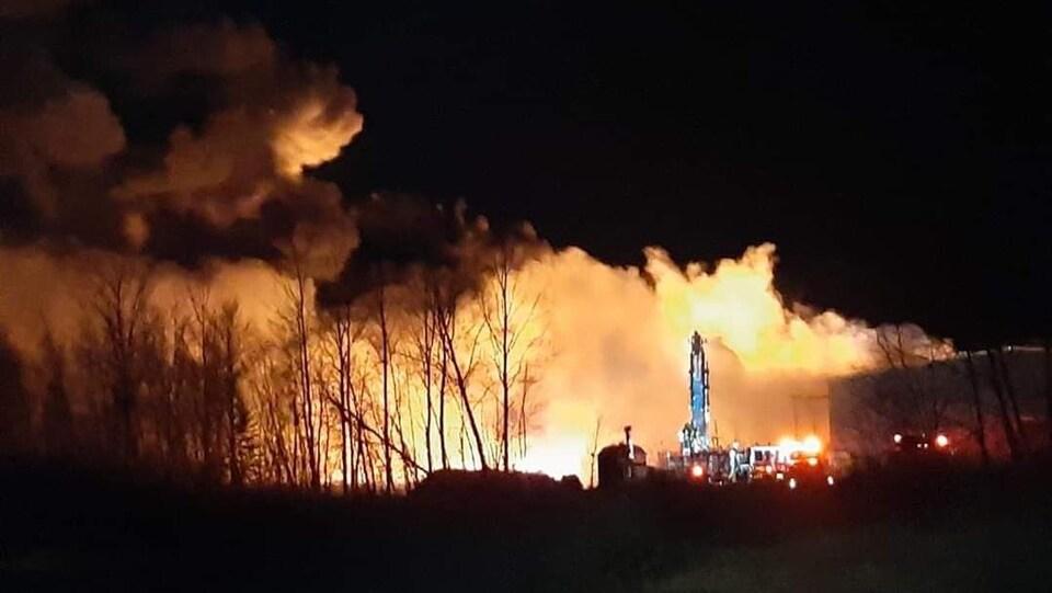 Incendie dans une usine de recyclage de Minto.