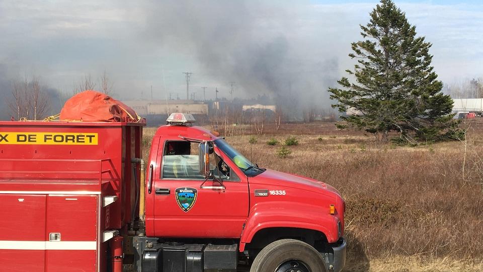 L'incendie a donné du fil à retordre aux pompiers et gardes forestiers.