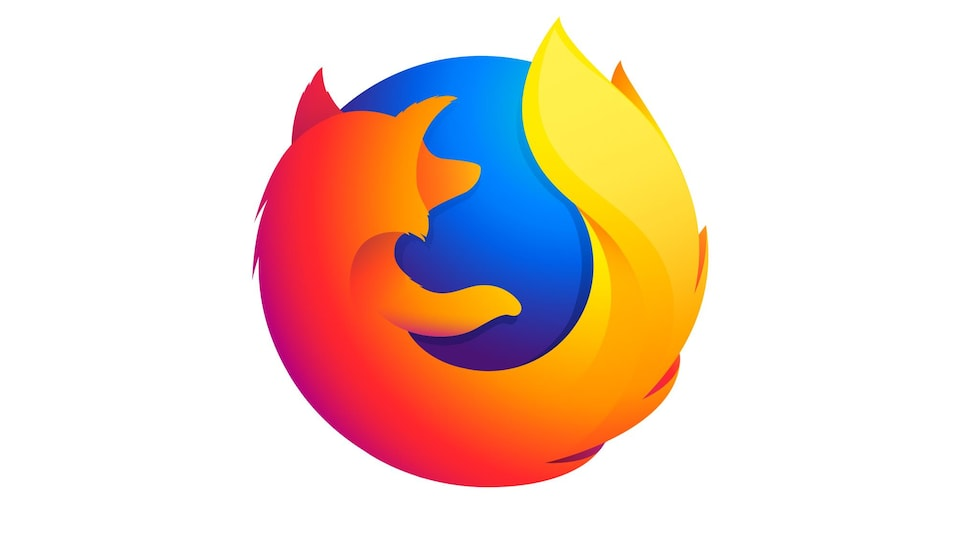 Le logo de Firefox, ressemblant à un renard autour d'une boule bleue.