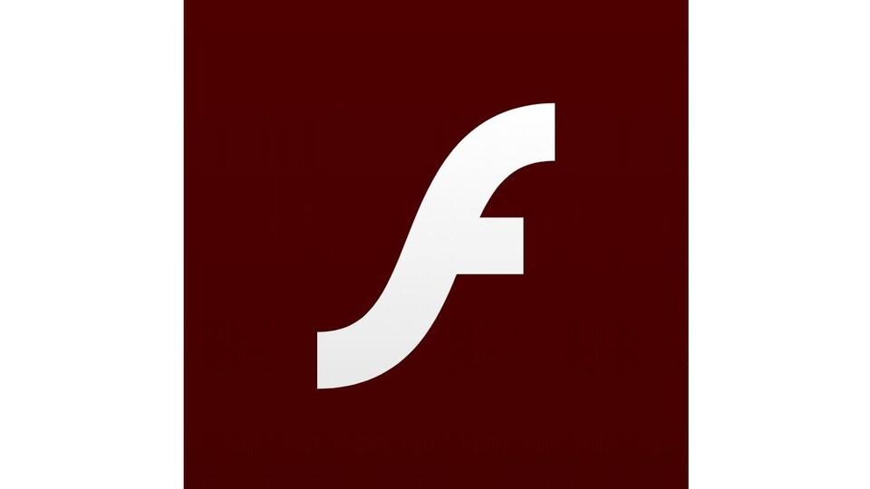 Le logo consiste en la lettre « F » stylisée en blanc sur un fond bourgogne.