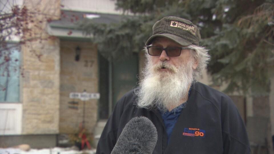 Larry Baillie en entrevue avec Radio-Canada.