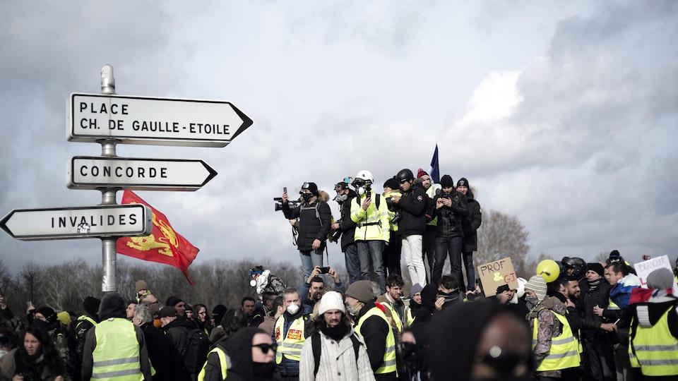 Des manifestants rassemblés à Paris