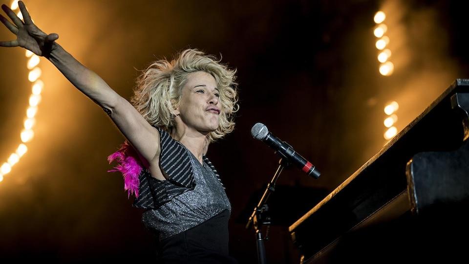 Marie-Jo Thério au concert « La soirée Acadie rock » aux FrancoFolies de Montréal