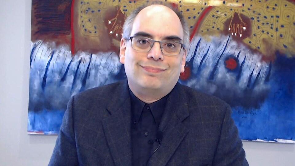 François Gravel, éditorialiste à l'Acadie Nouvelle
