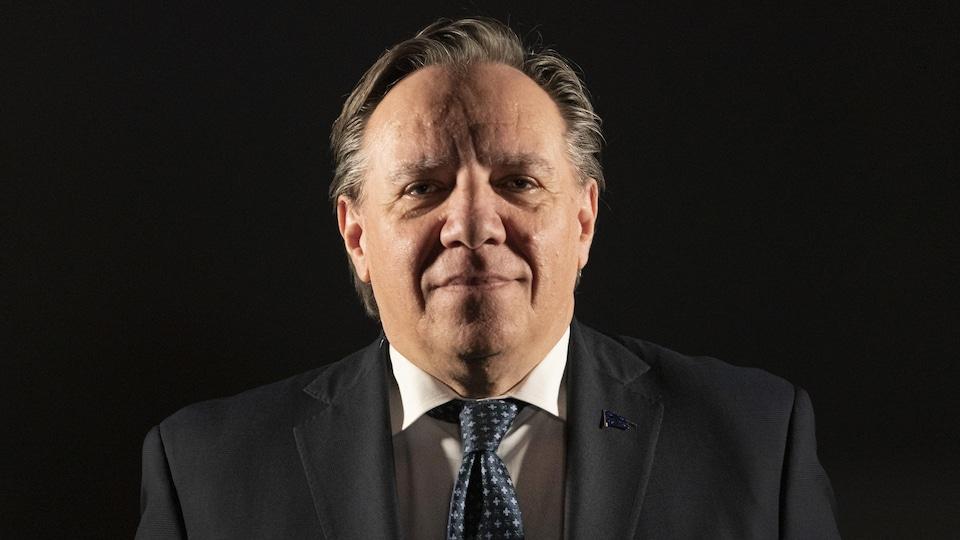 Gros plan du premier ministre du Québec François Legault.