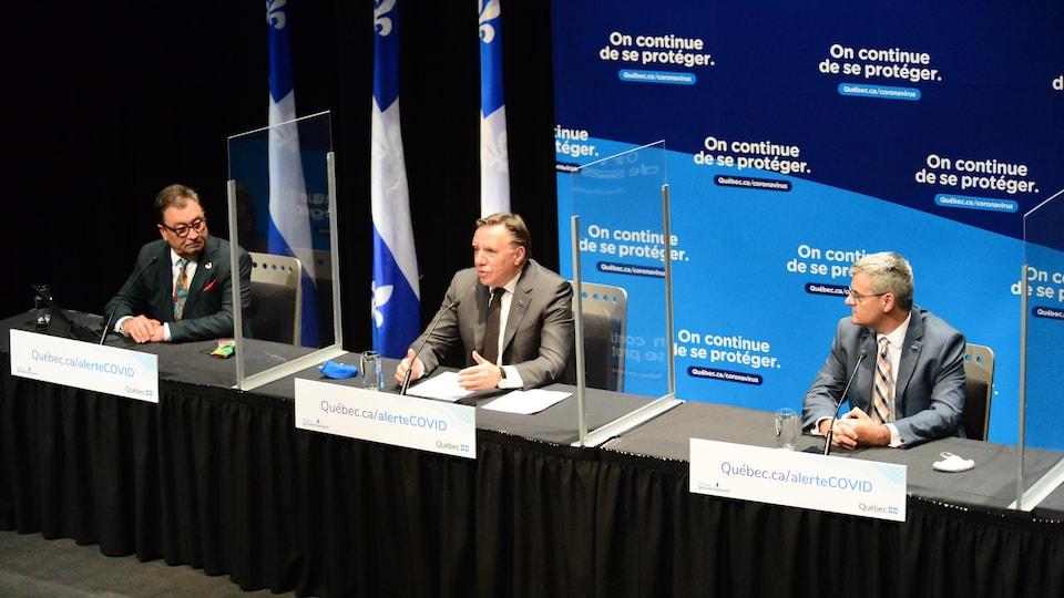 Le premier ministre Legault en conférence de presse