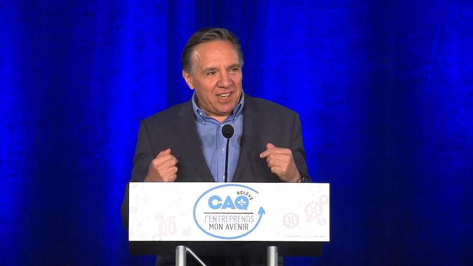 Le chef de la Coalition avenir Québec, François Legault