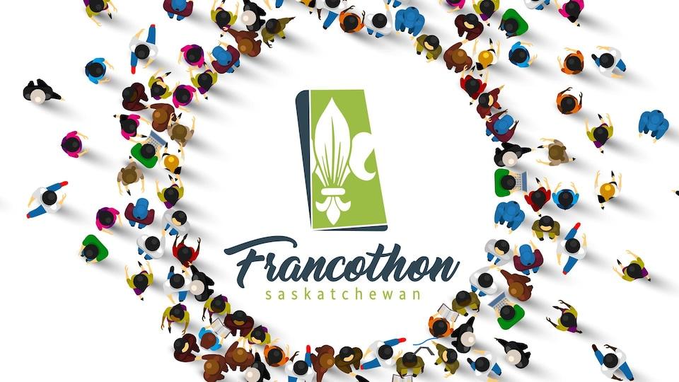 Le logo du Francothon 2021 en Saskatchewan.