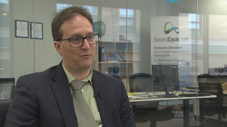Frédéric Bouchard, président de Second cycle et ingénieur spécialisé en économie circulaire