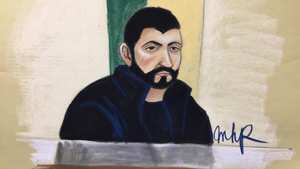 Dessin de cour de Frédérick Gingras.