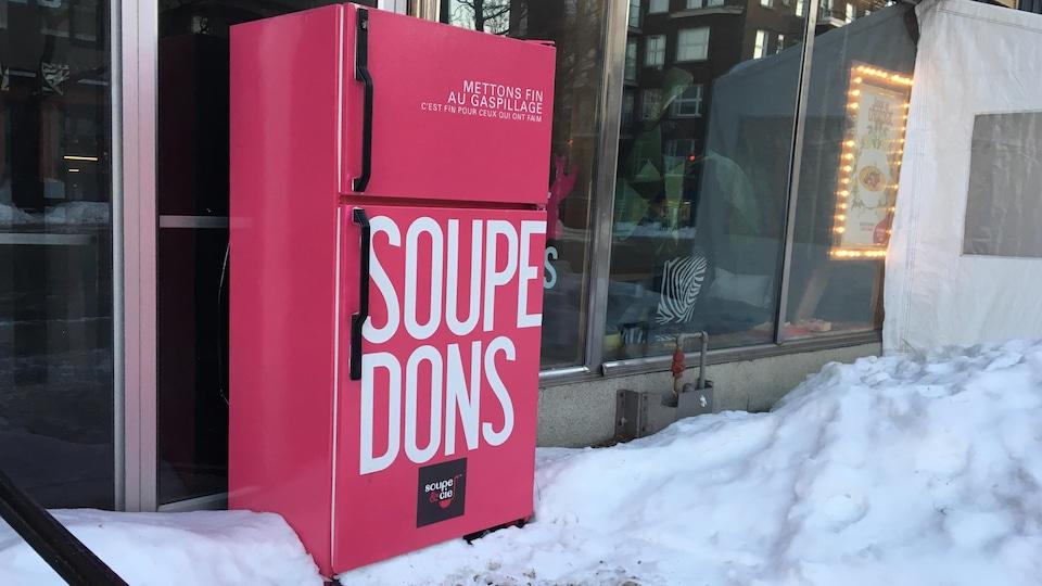 Le frigo-partage du restaurant Soupe et Cie