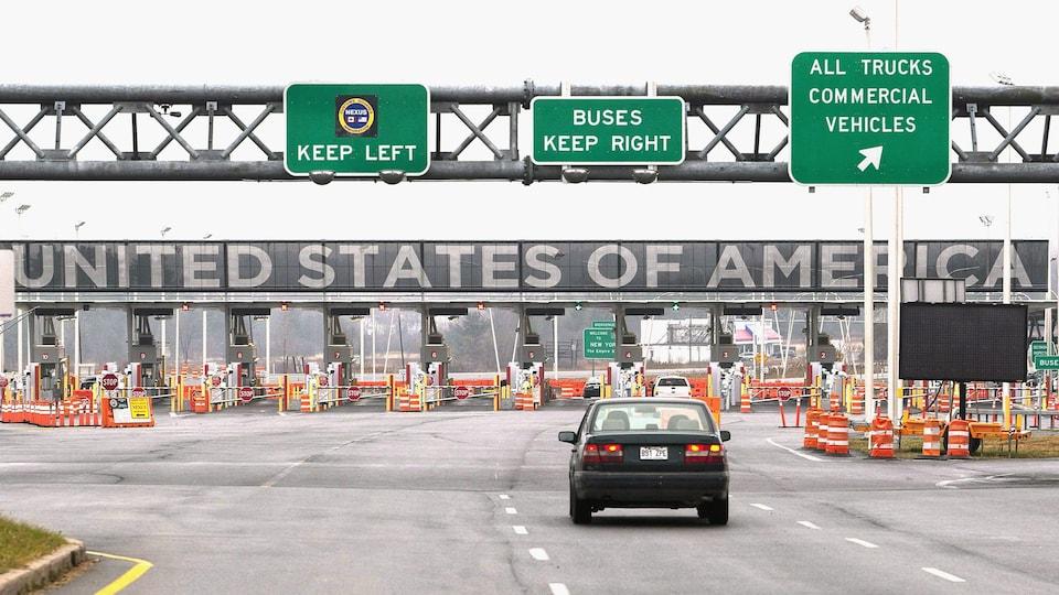 La frontière canado-américaine.