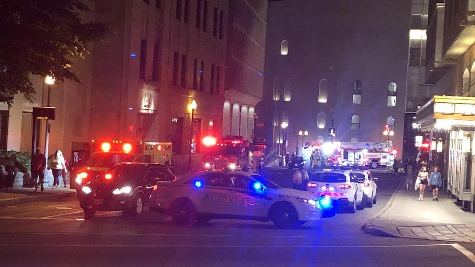 Une fuite de gaz doublée d'un incendie a nécessité l'intervention de la police et des pompiers au théâtre Le Diamant, lundi soir.