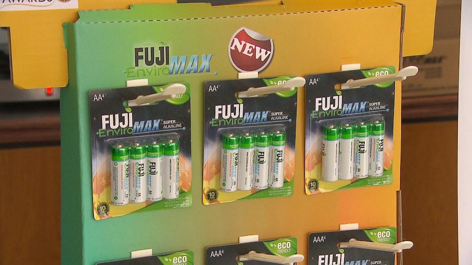Des emballages de batteries écologiques Fuji