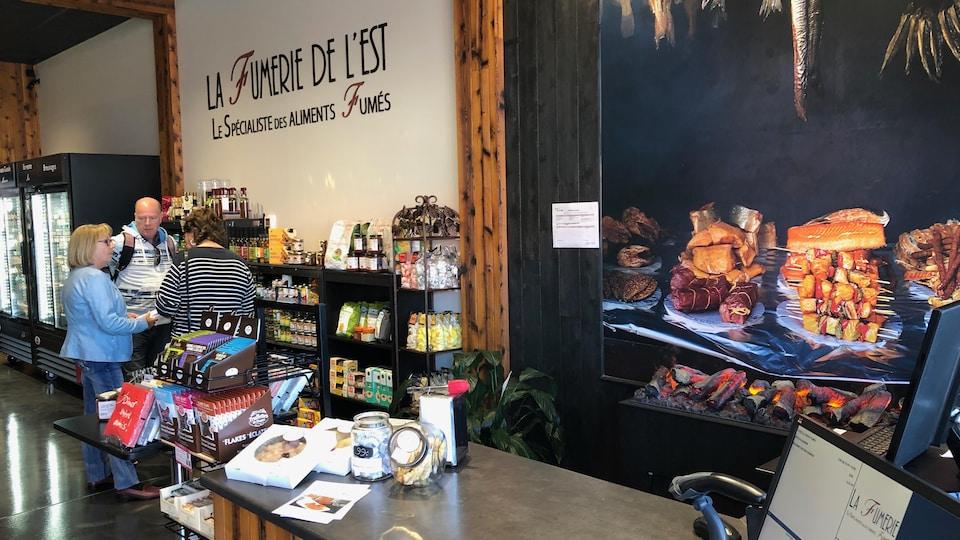 Intérieur du magasin La Fumerie de l'Est à Rimouski