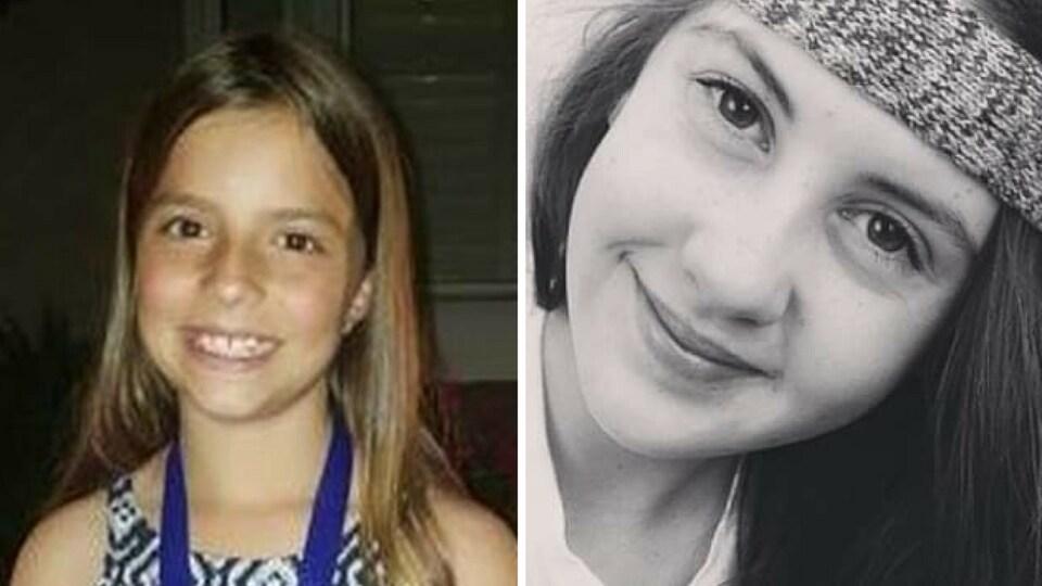 Les portraits des deux jeunes filles