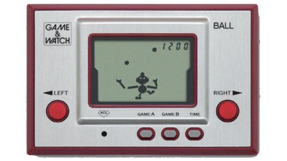 Une photo d'une console Game & Watch.