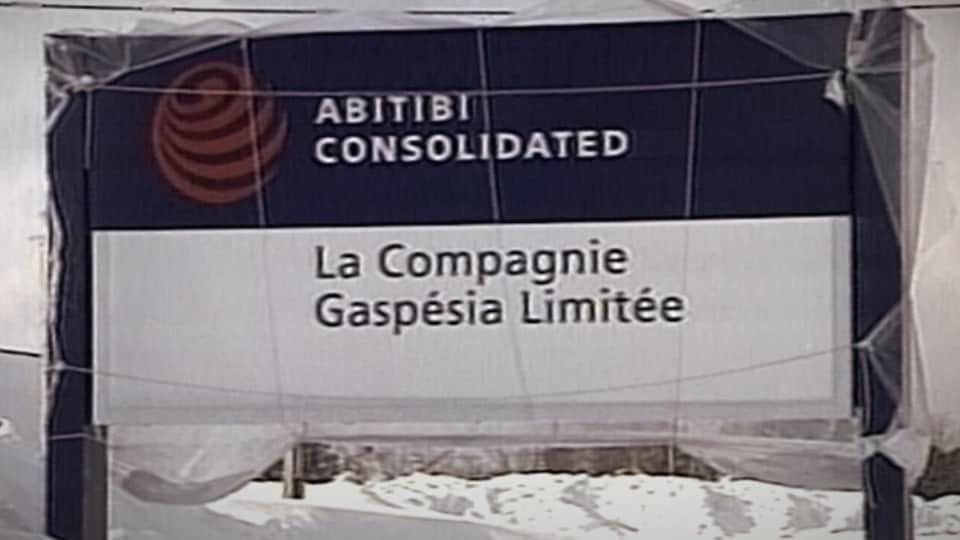 Une affiche de la Compagnie Gaspésia.
