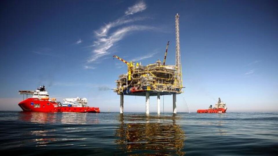 La plateforme gazière du projet Deep Panuke, au large de la Nouvelle-Écosse