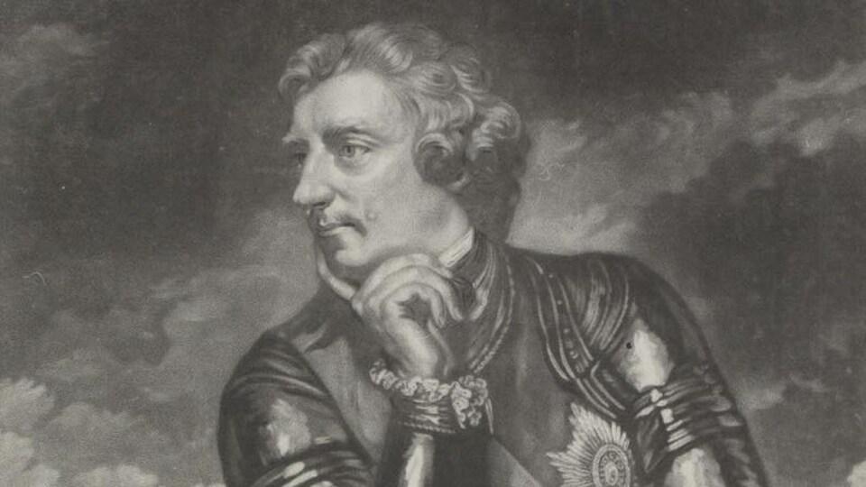 Étampe représentant le général Amherst