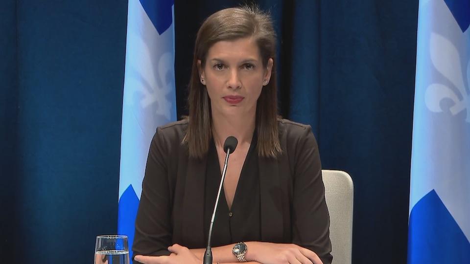 Geneviève Guilbault, vice-première ministre du Québec et responsable de la région de la Capitale-Nationale.