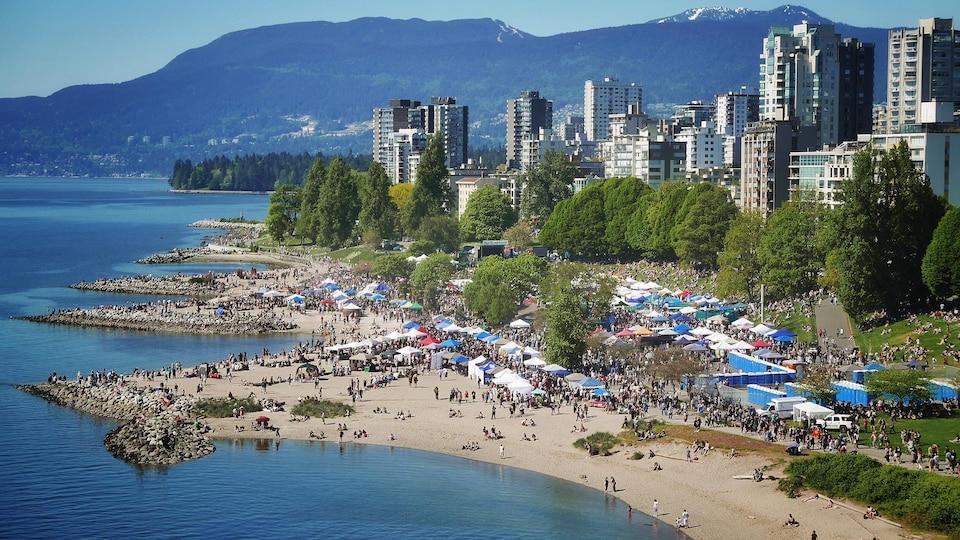 La plage Sunset à Vancouver