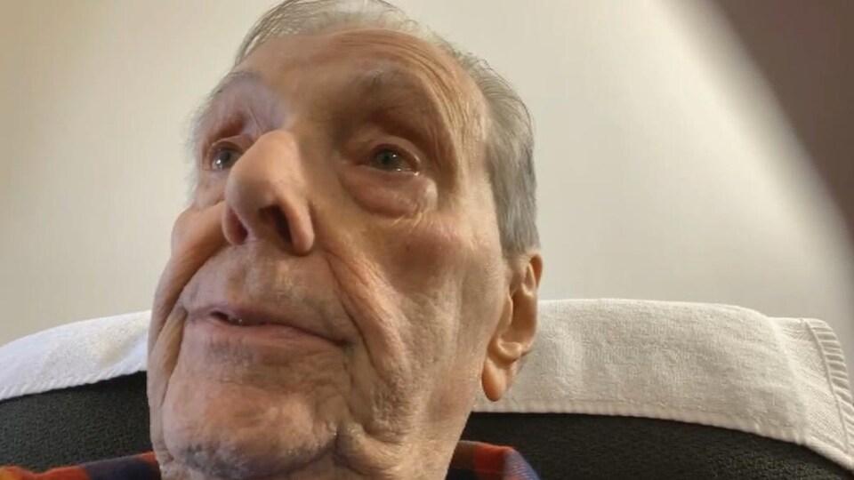 Gérald Allain, par webcam, le 22 janvier 2021.