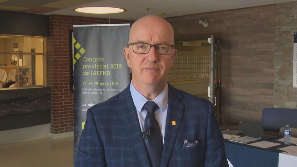 Gérald Arseneault en entrevue lors du congrès annuel de l'AEFNB.