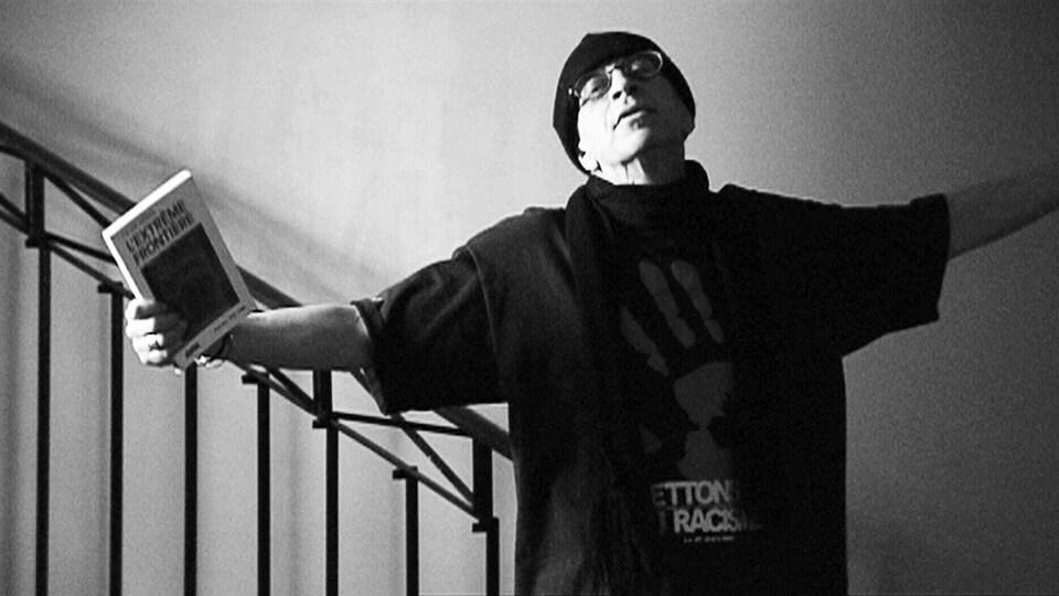 Gérald Leblanc, dans une photo en noir et blanc.