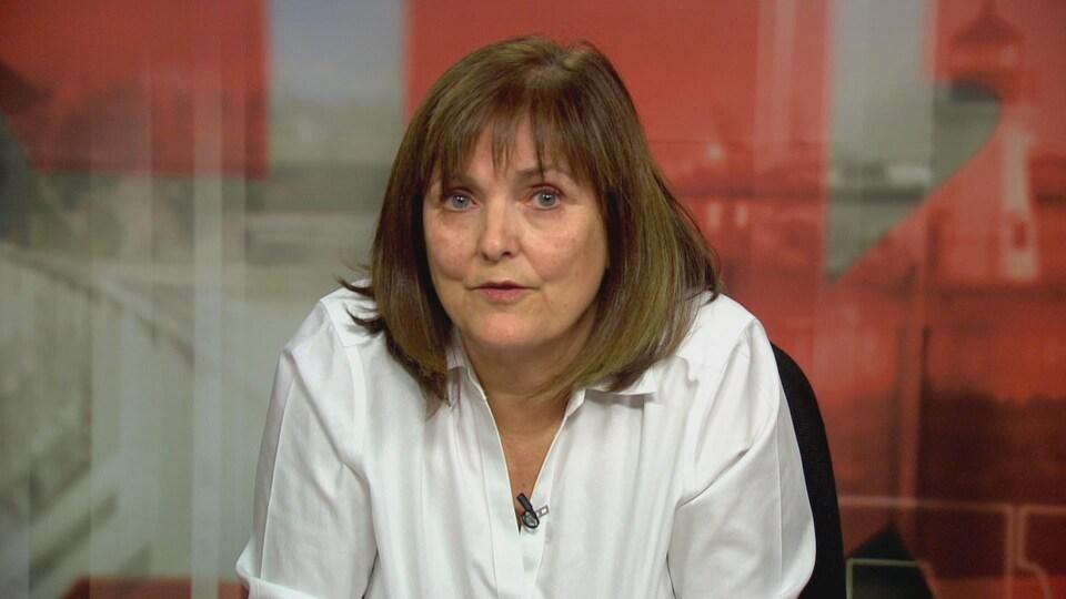 Géraldine Poirier Baiani en entrevue à Radio-Canada.