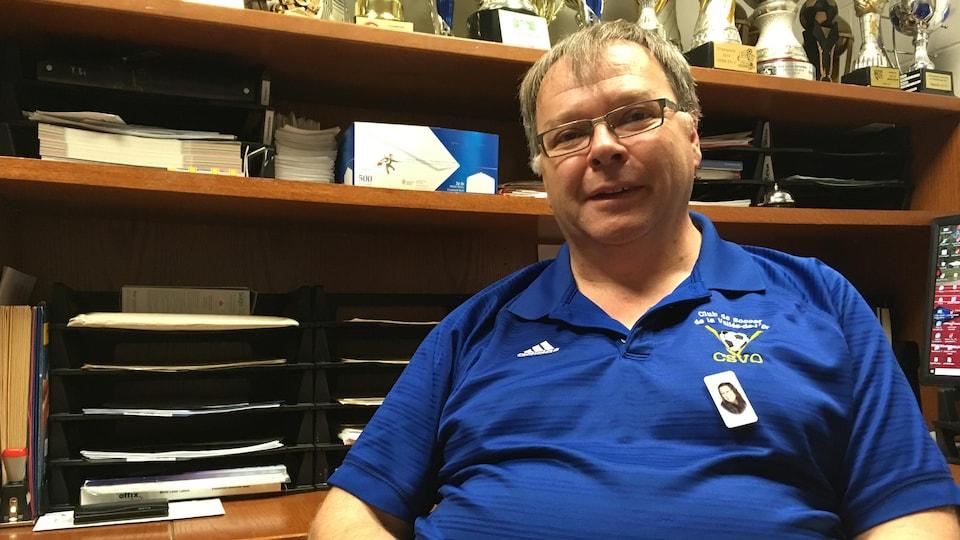 Ghislain Huppé, président du Club de soccer de la Vallée-de-l'Or.