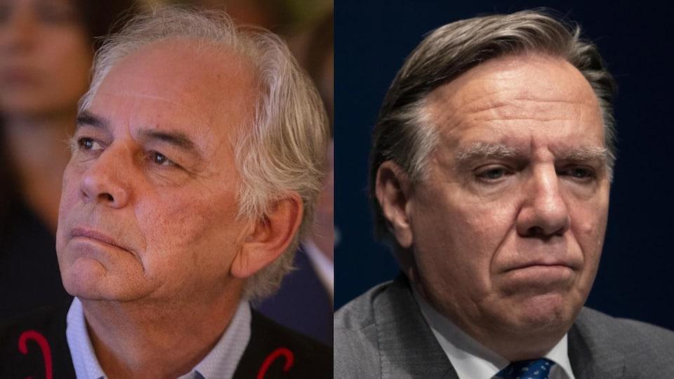 Le chef de l'Assemblée des Premières Nations Québec-Labrador (APNQL), Ghislain Picard, et le premier ministre du Québec, François Legault.