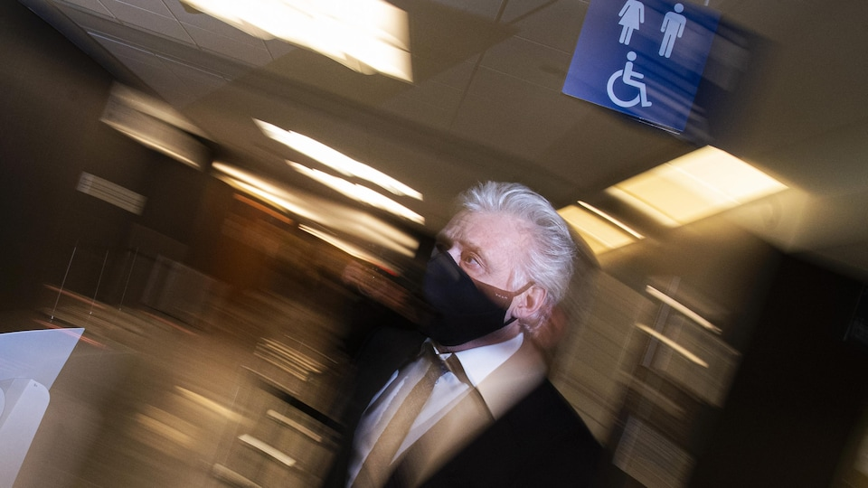 Gilbert Rozon, masqué.