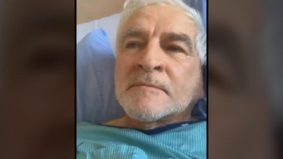 Gilles Cormier a été hospitalisé à Edmundston en février en raison de la COVID-19.
