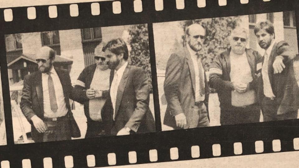 L'arrestation de Gilles Lafleur par deux enquêteurs.