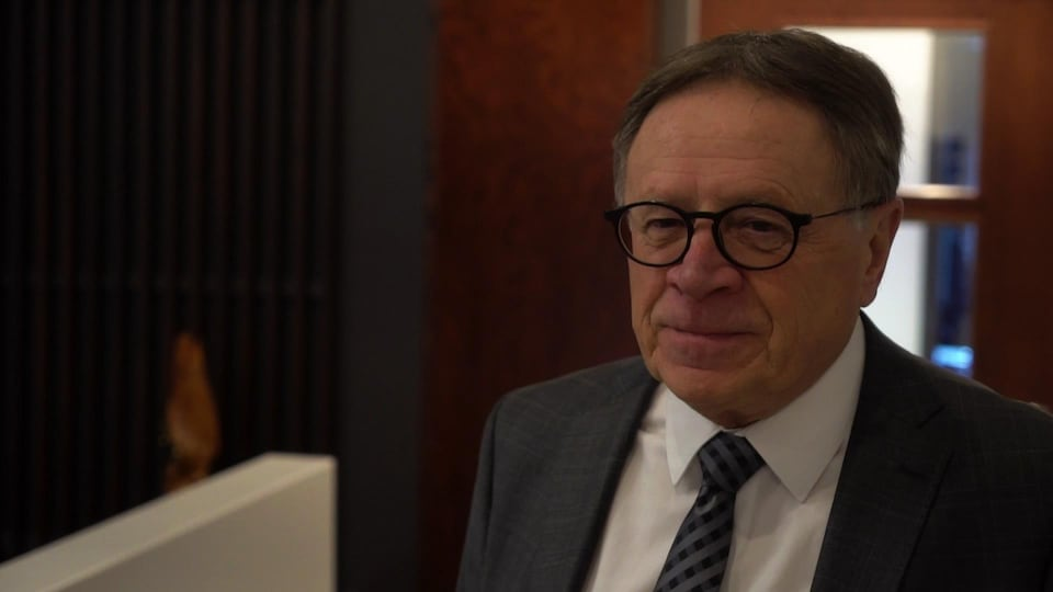 Gilles Lehouillier, maire de Lévis, en entrevue dans ses bureaux.