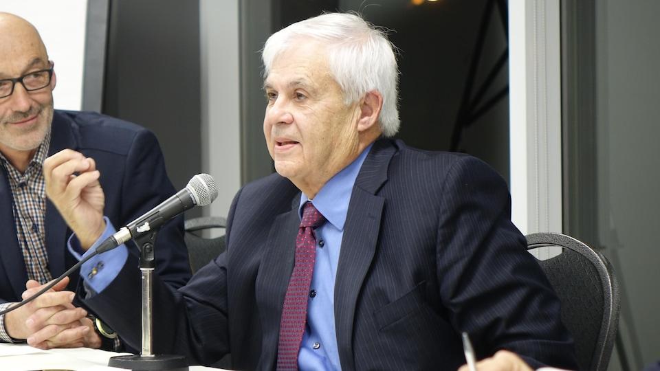 Gilles Thériault, candidat à la mairie de Rimouski.
