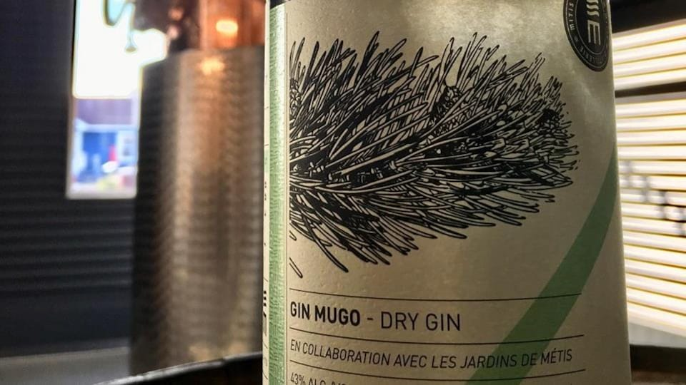 Bouteille de gin Mugo.