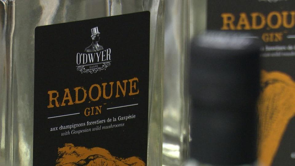 Bouteille de gin Radoune de la distillerie O'Dwyer.