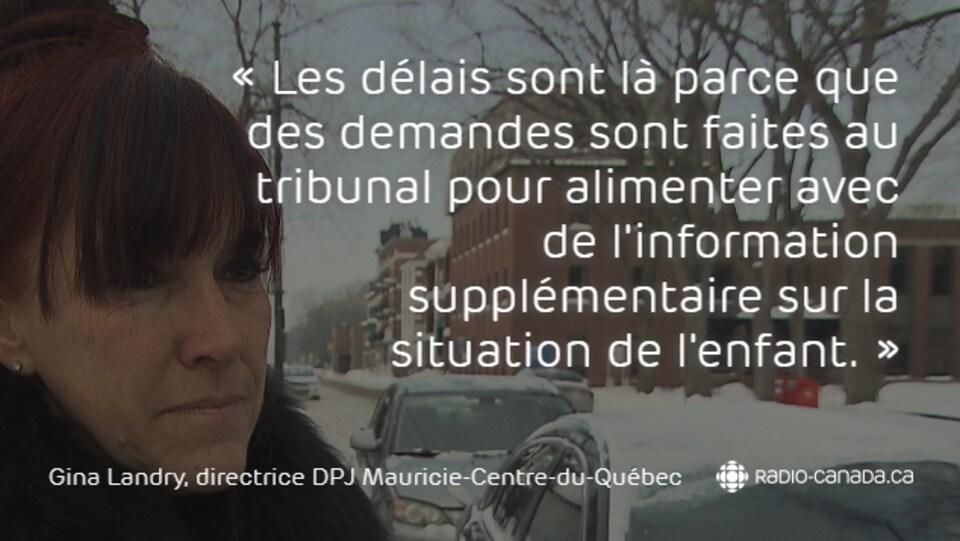 Gina Landry, directrice de la Direction de la protection de la jeunesse Mauricie-Centre-du-Québec