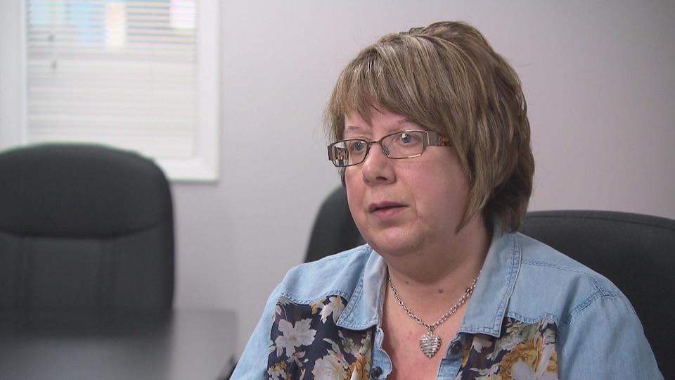 Gisèle Breau en entrevue à Radio-Canada.