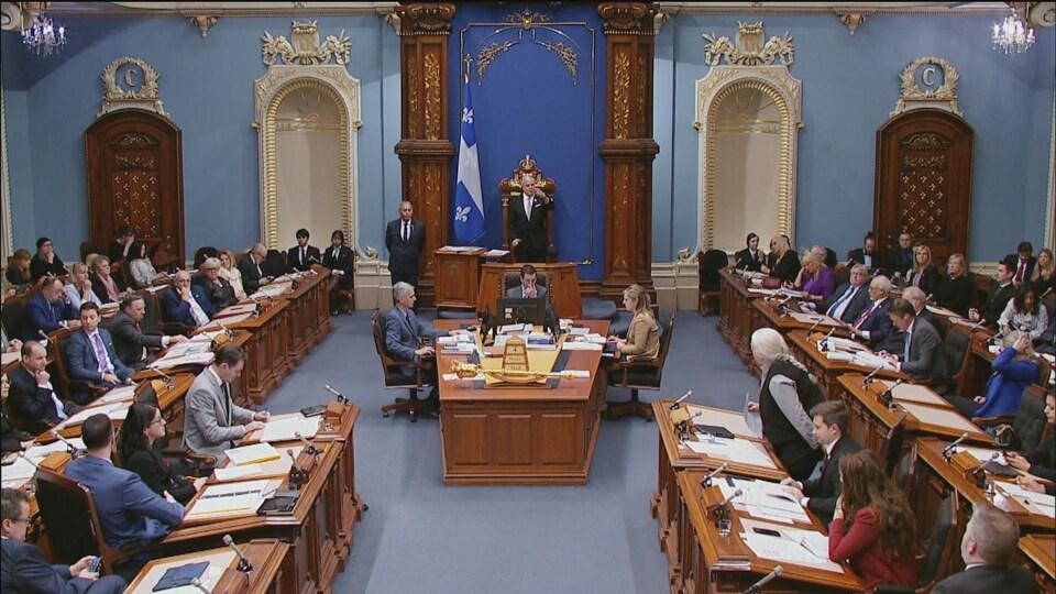 Les élus québécois, siégeant à l'Assemblée nationale.
