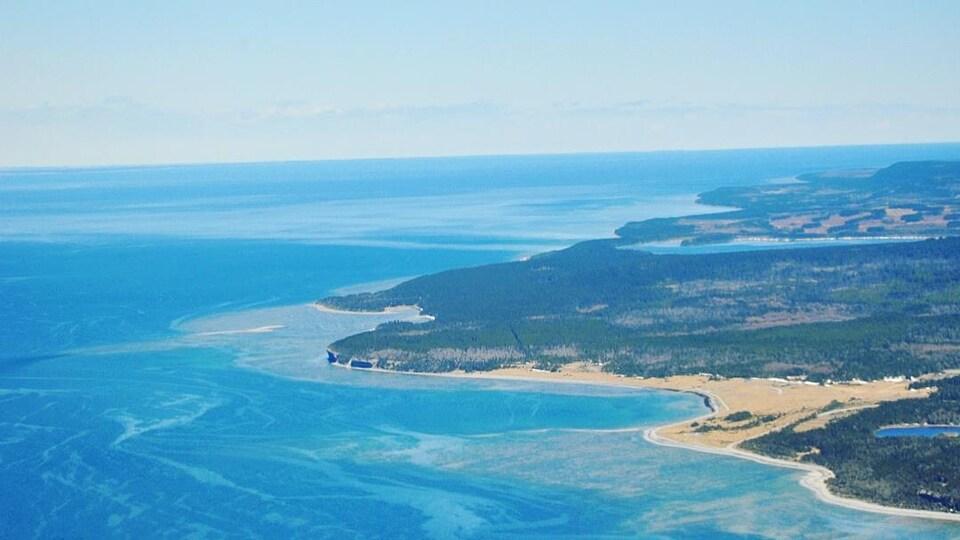 La côte vue des airs